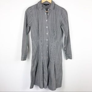 Brooks Brothers Black & White Plaid Dress Size 6p